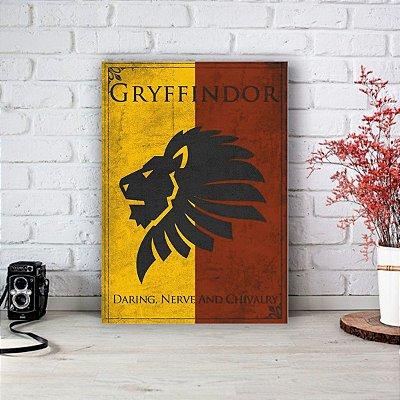 Placa Decorativa Gryffindor - Grifinória Harry Potter