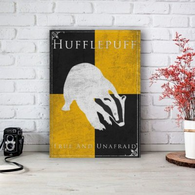 Placa Decorativa Hufflepuff - Lufa-Lufa Harry Potter