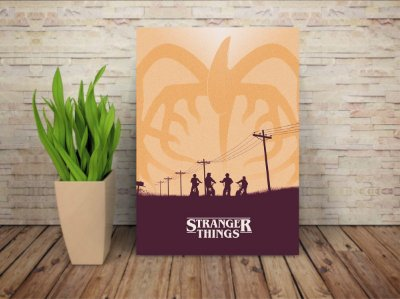 Placa Decorativa Stranger Things