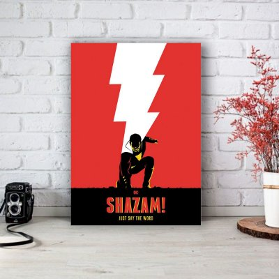 Placa Decorativa Shazam