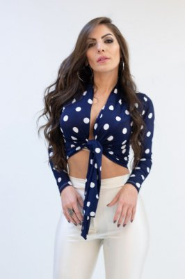Cropped Mariana Poá Azul