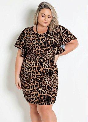 Vestido Oncinha Animal Print Moda Verão Feminino