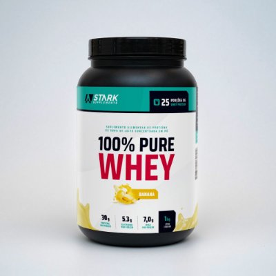 100% Pure Whey Protein (1 kg) - Whey Protein Concentrado