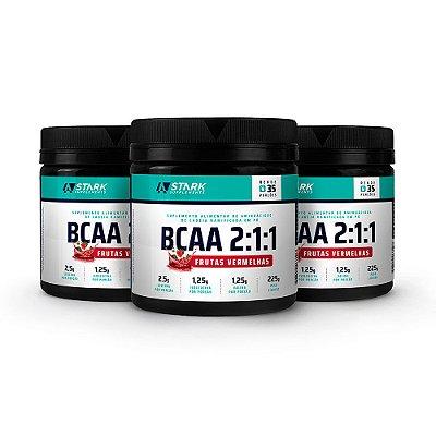 Kit 3x BCAA 2:1:1 - BCAA 5000 em pó