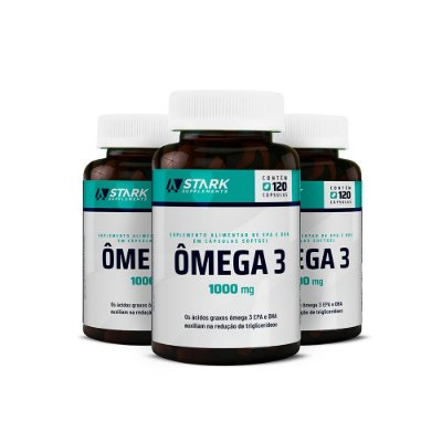 Kit 3x Ômega 3 1000 mg - 120 cápsulas