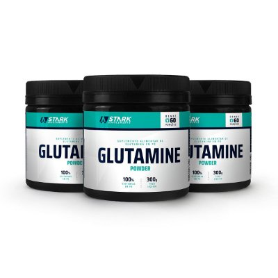 Kit 3x Glutamine Powder (300 g) - Glutamina em pó