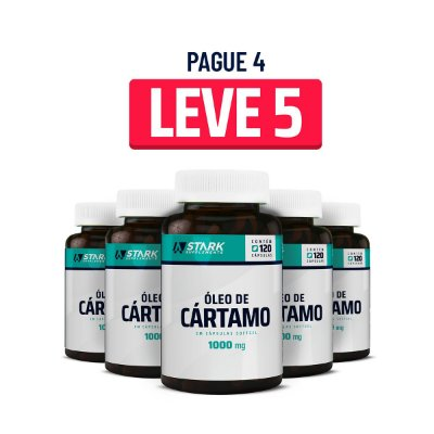 Kit 5x Óleo de Cártamo 1000 mg - 120 cápsulas