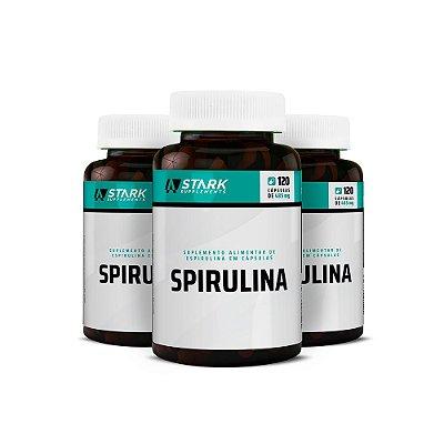 Kit 3x Spirulina - 120 Cápsulas
