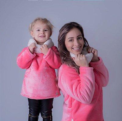 Fofinho Double Rosa Chiclete  Mãe e Filha