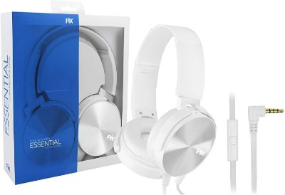 Headphone Essential Pix Com Microfone , P2, Branco - 043-0031
