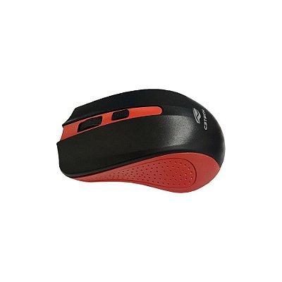 Mouse Sem Fio C3 Tech M-w20rd Preto/vermelho