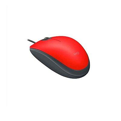 Mouse Usb Logitech M110 Com Clique Silencioso Vermelho