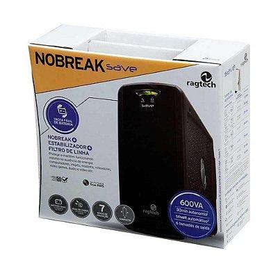 Nobreak Ragtech New Save Home 600 Va Trivolt Saída 115v