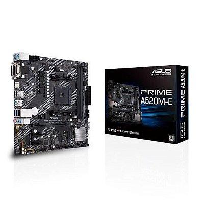 Placa Mãe Asus Prime A520m-e /br C/ Suporte A M.2 1Gb