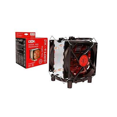 Cooler Gamer Dex Universal Amd E Intel Led Vermelho Dx-9100d