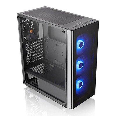Gabinete Gamer Thermaltake V200 Rgb MidTower 4Fan Vidro Temp