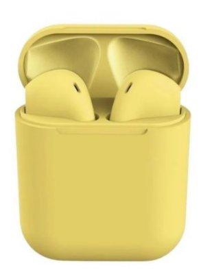 Fone de Ouvido Sem Fio i12 TWS Amarelo