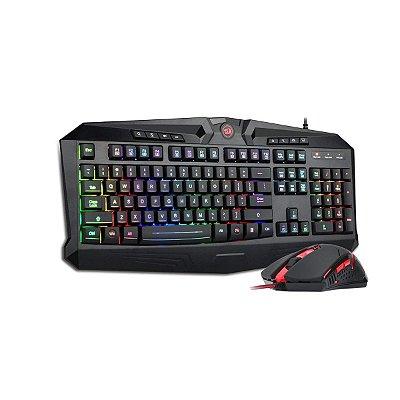 Kit Gamer Redragon S101-2 Teclado Vajra + Mouse Centrophorus