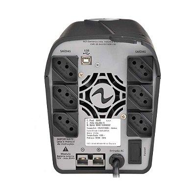 Nobreak Ragtech Easy Way De 1300va Com Engate De Bateria Trivolt Automático ( 115v, 127v, 220v ) Saída 115v - 4143