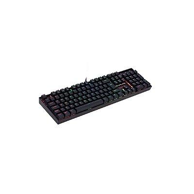 Teclado Mecânico Redragon Mitra K551 Rgb Abnt2 Switch Red