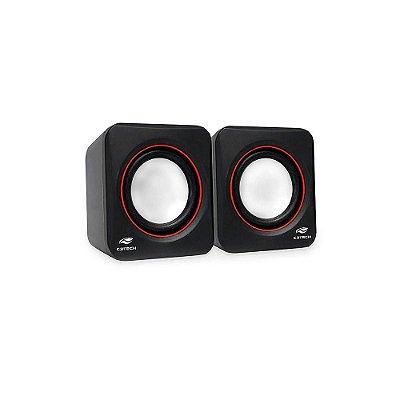 Caixa De Som C3 Tech 2.0 Portátil 3w Rms Preta - Sp-301bk