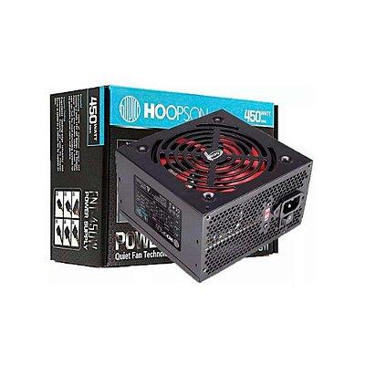 Fonte 450w Real Hoopson Fnt-450w Box Com Cabo De Alimentacao