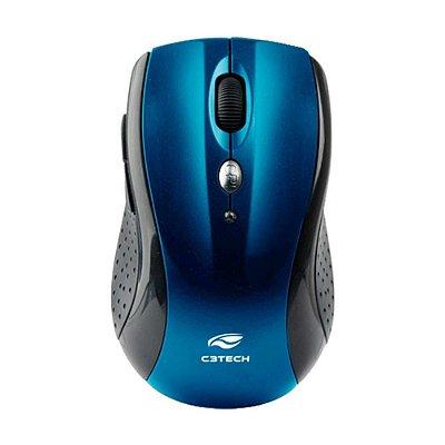 Mouse Sem Fio C3 Tech M-w012bl Preto E Azul