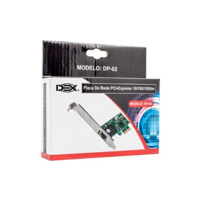 Placa De Rede Dex 10/100/1000 Pci-express Dp-02