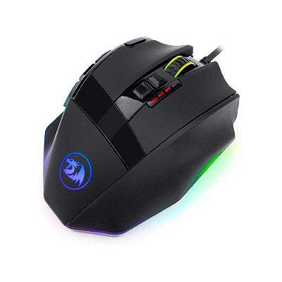 Mouse Gamer Redragon Sniper M801 Rgb 12400Dpi 9 Botões Black
