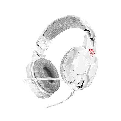 Headset Gamer Trust Gtx 322w Snow Camo Branco T20864