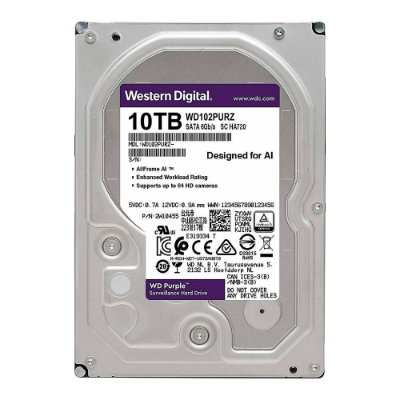 Hd 10tb Sata Western Digital Purple Surveillance Wd102purz