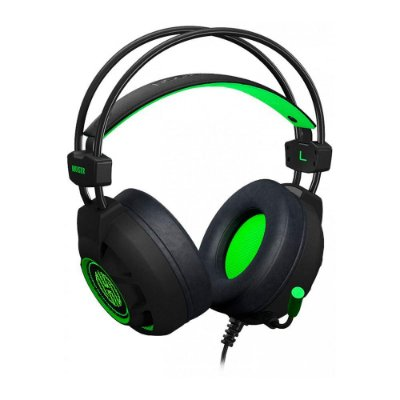 Headset Gamer Hoopson Bruiser Led Usb Verde Dg28g