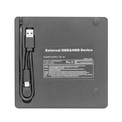 Gravador Dvd Dex Externo Slim Usb 3.0 Dg-300 Preto