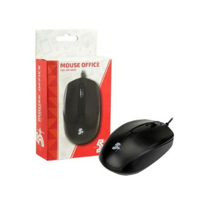 Mouse Óptico Usb Office 5+ 1000dpi Preto 015-0042