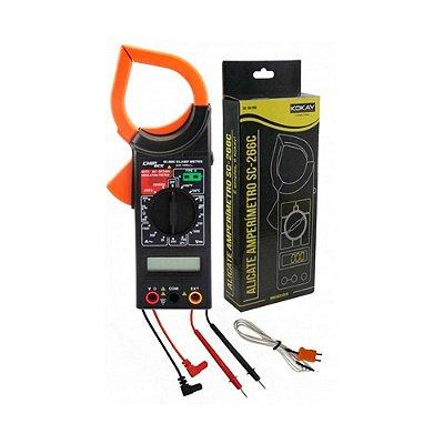 Alicate Amperímetro Com Medidor De Temperatura Kokay