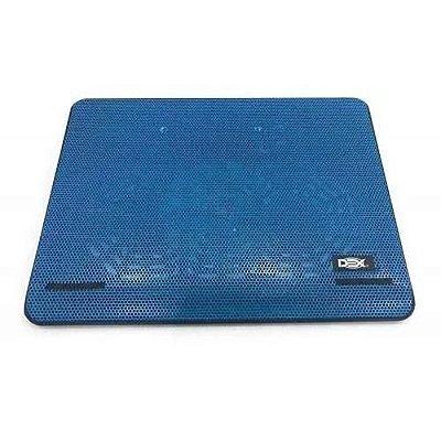 Base Para Notebook 15,6' Azul Com Fan 140mm Led Azul Dex