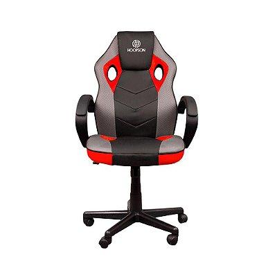 Cadeira Gamer Hoopson Reclinável E Giratoria Black-red