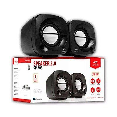 Caixa De Som C3 Tech 2.0 Portátil 3w Rms Preta - Sp-303bk
