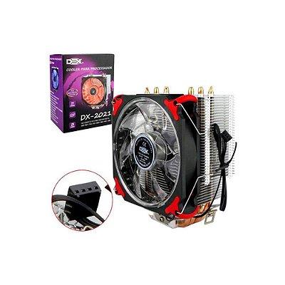 Cooler Dex Universal Para Intel E Amd C/ Led Vermelho Dx2021