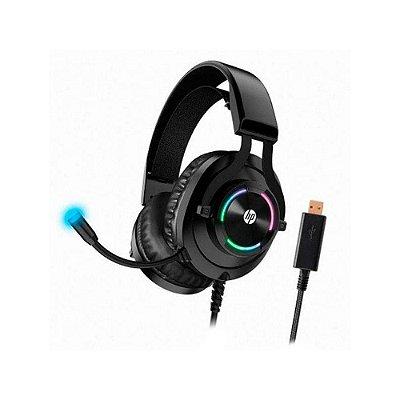 Headset Gamer Hp H360 Rgb Drivers 50mm P2/usb Preto 9aj68aa