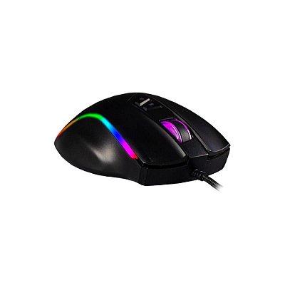 Mouse Gamer Hoopson Nexus Rgb 7200dpi 9 Botões Black Gt300+