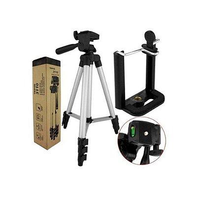 Tripé Telescópico Profissional Binóculos Câmeras Filmadoras