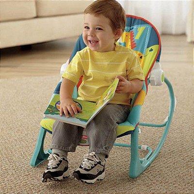 Cadeira de Balanço Minha Infância da Fisher Price - Produto Alugado por Mamãe Parceira