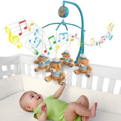 Móbile em Pelúcia Giratório Musical De Bebê Para Berço Marinheiro Ursinho - Produto Alugado por Mamãe Parceira