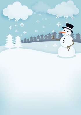 Fundo fotográfico - Boneco de Neve 02 (1,40 x 2,10 metros)