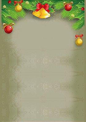 Fundo fotográfico - Enfeite de Natal (1,40 x 2,10 metros)