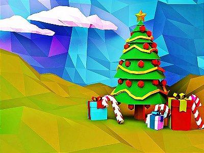 Fundo Fotográfico - Árvore de Natal (1,50 x 2,10 metros)