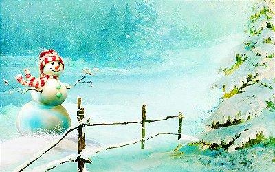 Fundo fotográfico - Boneco de Neve 05 (1,50 x 2,10 metros)