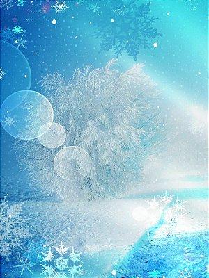 Fundo fotográfico - Neve de Natal 03 (1,50 x 2,10 metros)