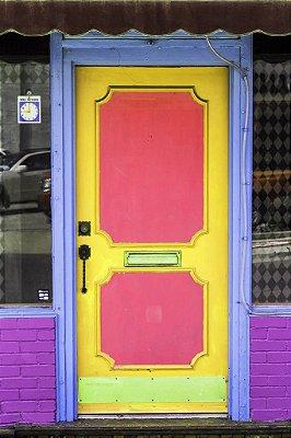 Porta 08 Rosa Amarela (2 x 1,40 metros)